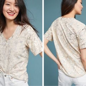 Anthropologie Sol Angeles Tee XS Foiled Floral
